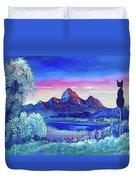 Mountain Dreams Meow Duvet Cover