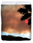 Mountain Fire Sunset Duvet Cover
