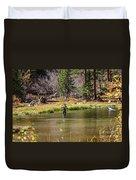 Mountain Fisherman Duvet Cover