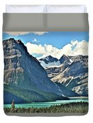 Mountain Glacier And Lake  Duvet Cover