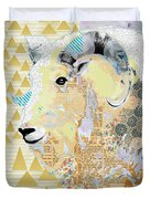 Mountain Goat Collage Duvet Cover