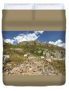 Mountain Goats At Columbine Lake - Weminuche Wilderness - Colorado Duvet Cover