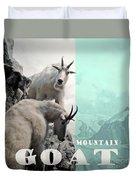 Mountain Goats Duvet Cover
