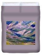 Mountain Gorge Italian Alps Duvet Cover