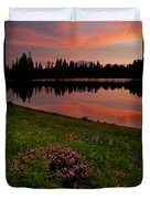 Mountain Heather Reflections Duvet Cover