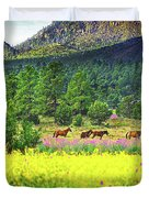 Mountain Horses Duvet Cover
