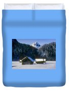 Mountain Huts 3 Duvet Cover