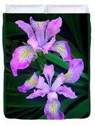 Mountain Iris In Flower California Duvet Cover
