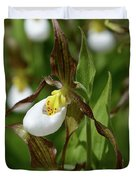 Mountain Lady Slippers Up Close Duvet Cover