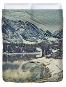 Mountain Lake, California Duvet Cover