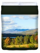 Mountain Lake In The Fall Duvet Cover