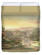 Mountain Lake Near Piedmont Duvet Cover