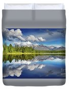 Mountain Lake With Reflection Duvet Cover