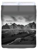 Icelandic Mountain  Landscape Duvet Cover