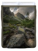 Mountain Landscape With A Creek Duvet Cover