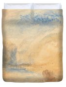 Mountain Landscape With Lake Duvet Cover