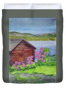 Mountain Laurel By The Cabin Duvet Cover