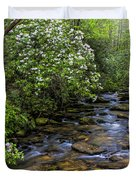 Mountain Laurels Light Up Panther Creek Duvet Cover