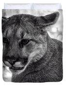 Mountain Lion Bw Duvet Cover