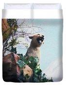 Mountain Lion - Paint Effect Duvet Cover