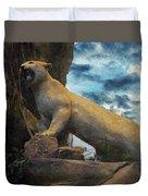 Mountain Lion - Paint Fx Duvet Cover