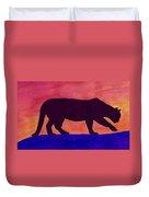 Mountain Lion Silhouette Duvet Cover