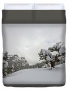 Mountain Lonely Tree Duvet Cover