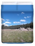 Mountain Meadow Above Cuba,nm Duvet Cover