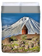 Mountain Monastery Duvet Cover