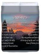 Mountain Morning Prayer Duvet Cover