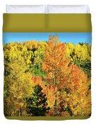 Mountain Of Color In Dillon Colorado Duvet Cover