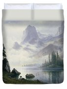 Mountain Out Of The Mist Duvet Cover