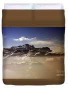 Mountain Panorama And Mist Les Gets Portes Du Soleil Morzine Haute Savoie France Duvet Cover