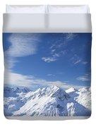 Mountain Panorama Lech Near St Saint Anton Am Arlberg Austria Duvet Cover