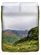 Mountain Path Vert Duvet Cover