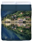Mountain Reflected In Lake Duvet Cover