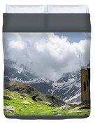 Mountain Refuge Of Mount Viso Duvet Cover