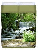 Mountain River Spring Duvet Cover