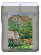Mountain Scenery In Dale, Sandnes Duvet Cover