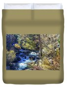 Mountain Stream In Fall Duvet Cover