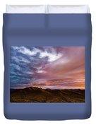 Mountain Sunset In New River Duvet Cover