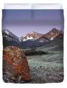 Mountain Textures And Light Duvet Cover