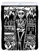 Mountain Town Skeleton Duvet Cover