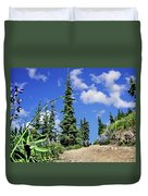 Mountain Trail - Olympic National Park Duvet Cover