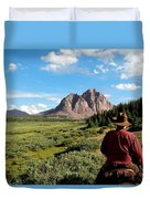 Mountain Trails Duvet Cover
