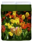 Mountain Tulips Duvet Cover
