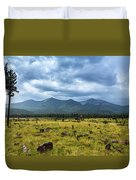 Mountain View After Rain Duvet Cover