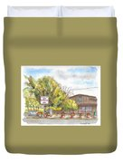Mountain View Barbeque In Walker, California Duvet Cover