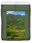 Mountain View In Colorado Duvet Cover