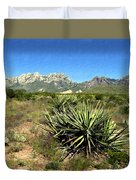 Mountain View Las Cruces Duvet Cover
